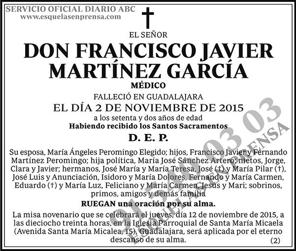 Francisco Javier Martínez García